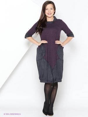Платье МадаМ Т. Цвет: синий, фиолетовый