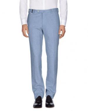 Повседневные брюки G.T.A. MANIFATTURA PANTALONI. Цвет: небесно-голубой