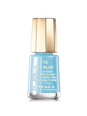 Лак для ногтей тон 115 Sky Blue Mavala. Цвет: голубой
