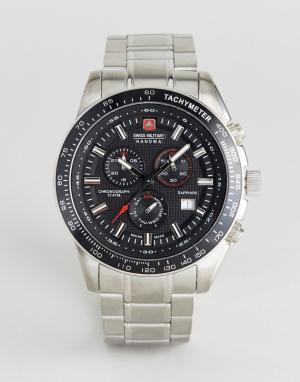 Swiss Military Часы с браслетом из нержавеющей стали Crusador. Цвет: серебряный