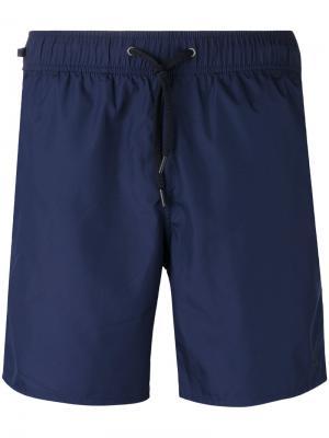 Шорты для плавания на шнурке Z Zegna. Цвет: синий