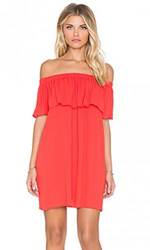 Платье senorita Otis & Maclain. Цвет: оранжевый