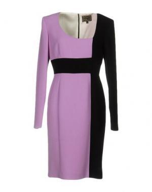 Платье до колена FAUSTO PUGLISI. Цвет: светло-фиолетовый