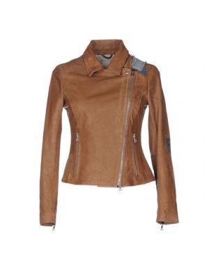 Куртка GOLD CASE. Цвет: коричневый