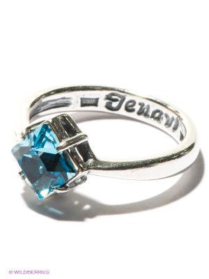 Кольцо Jenavi. Цвет: серебристый, голубой