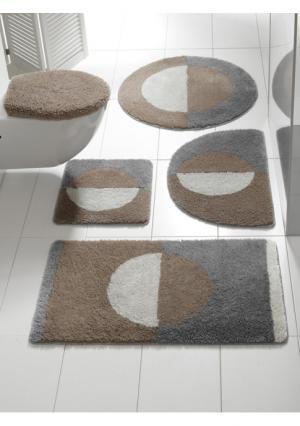 Коврик для ванной Heine Home. Цвет: бирюзовый/серый, красный/серый