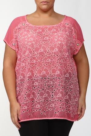 Блузка LA VELINA. Цвет: розовый