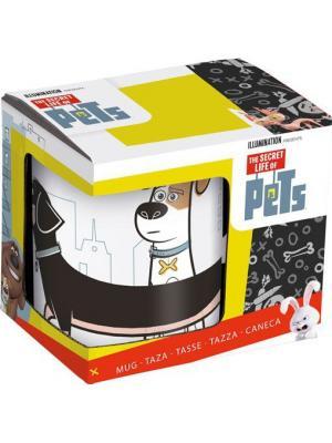 Кружка керамическая в подарочной упаковке (325 мл). Тайная жизнь домашних животных Макс и Бадди Stor. Цвет: белый, черный, красный, желтый