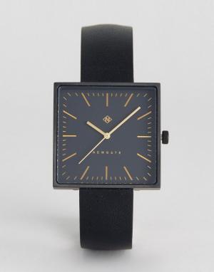 Newgate Часы с квадратным циферблатом и черным кожаным ремешком. Цвет: черный