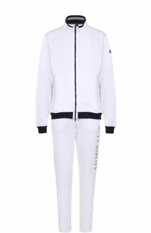 Хлопковый спортивный костюм Paul&Shark. Цвет: белый