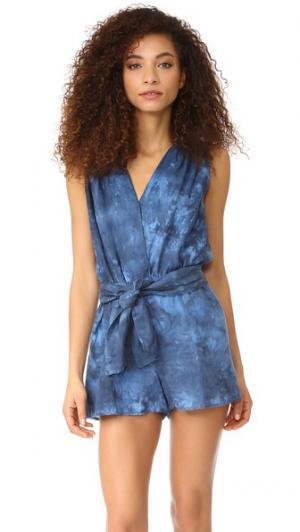 Комбинезон YFB Clothing Wave Young Fabulous & Broke. Цвет: голубой