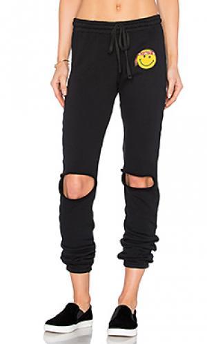 Спортивные брюки с накладным принтом sherri happy hippy Lauren Moshi. Цвет: черный