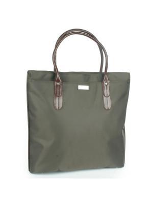 Папка-сумка Pola. Цвет: темно-коричневый