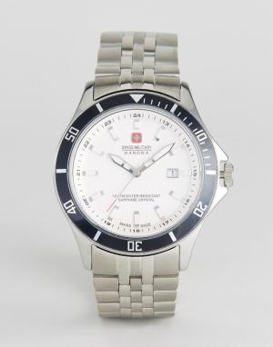 Swiss Military Часы с браслетом из нержавеющей стали. Цвет: серебряный