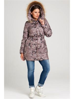 Куртка Modress. Цвет: темно-бежевый, бежевый