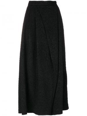 Расклешенные брюки с эффектом помятости Antonio Marras. Цвет: чёрный