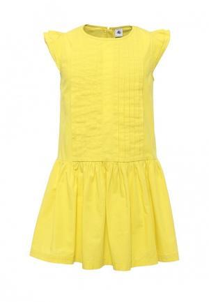 Платье Petit Bateau. Цвет: желтый