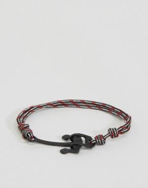Icon Brand Красный веревочный браслет с якорем Alton. Цвет: красный