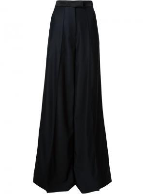 Широкие брюки Texas Racil. Цвет: чёрный