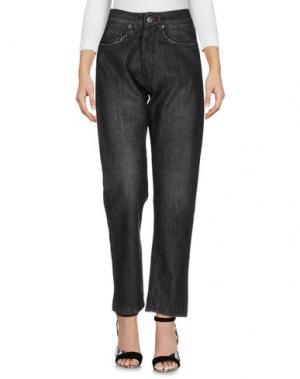 Джинсовые брюки BERNA. Цвет: черный