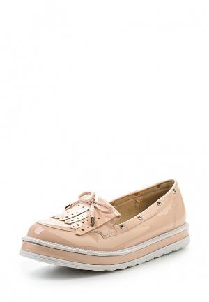 Лоферы Ideal Shoes. Цвет: розовый