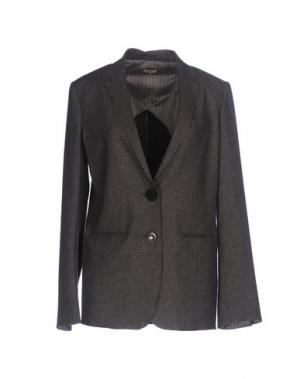 Пиджак MALÌPARMI. Цвет: темно-коричневый