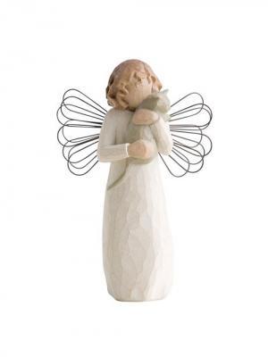 Фигурка Willow Tree (Ангел умиления, 13 см). Цвет: серый