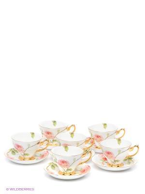 Чайный набор Итальянская роза Pavone. Цвет: белый, розовый