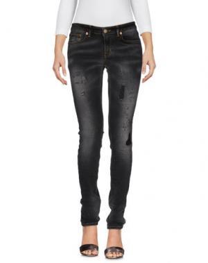 Джинсовые брюки REIGN. Цвет: стальной серый