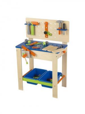 Игровой набор Верстак с инструментами для мальчика KidKraft. Цвет: синий, бежевый