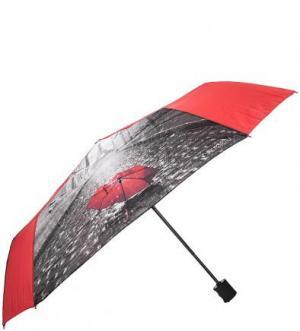 Складной зонт с куполом из полиэстера FLIORAJ. Цвет: красный