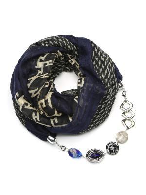 Шарф с ожерельем FOXTROT. Цвет: темно-синий
