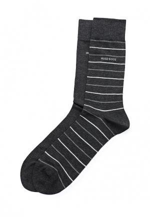 Комплект носков 2 пары Boss Hugo. Цвет: серый