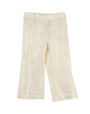 Повседневные брюки LA STUPENDERIA. Цвет: слоновая кость