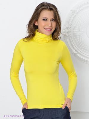 Водолазка MONDIGO. Цвет: желтый