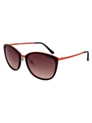 Солнцезащитные очки Exenza. Цвет: темно-коричневый, рыжий