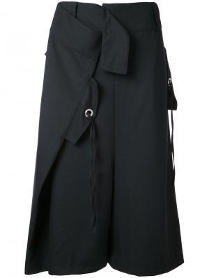 Укороченные брюки Serge Max Tan. Цвет: чёрный