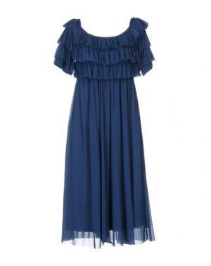 Платье длиной 3/4 FUZZI. Цвет: пастельно-синий
