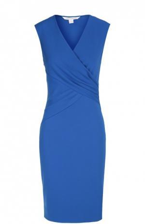 Платье Leora с драпировкой Diane Von Furstenberg. Цвет: синий