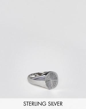 Seven London Серебряное кольцо с печаткой. Цвет: серебряный