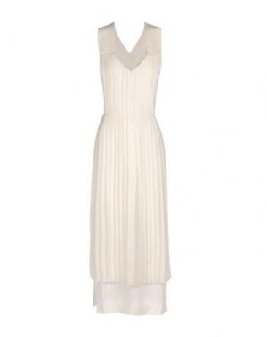 Платье длиной 3/4 EDUN. Цвет: слоновая кость