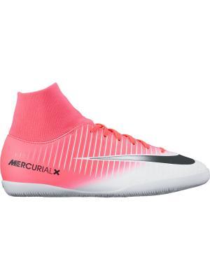 Шиповки JR MERCURIALX VICTORY 6 DF IC Nike. Цвет: розовый, белый, черный