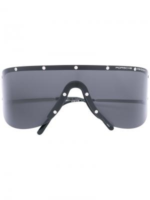 Солнцезащитные очки Visor Porsche Design. Цвет: чёрный