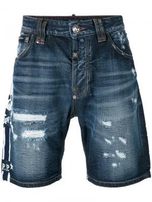 Джинсовые шорты So High Philipp Plein. Цвет: синий