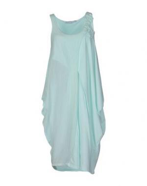 Платье до колена LA FABBRICA del LINO. Цвет: бирюзовый