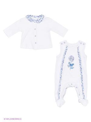КОМПЛЕКТ (ползунки + кофточка), Реверанс Soni kids. Цвет: белый, голубой
