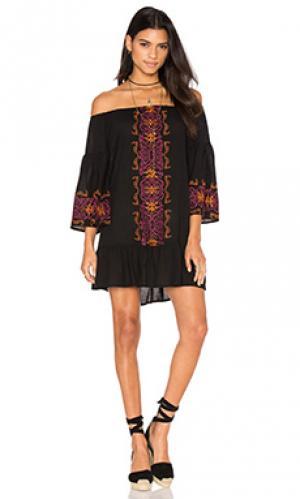 Платье santorini Nightcap. Цвет: черный