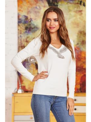 Пуловер Abby. Цвет: белый