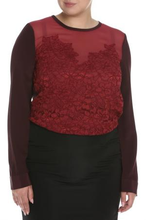 Блузка DVF. Цвет: бордовый