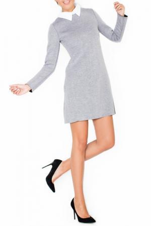 Платье KATRUS. Цвет: серый